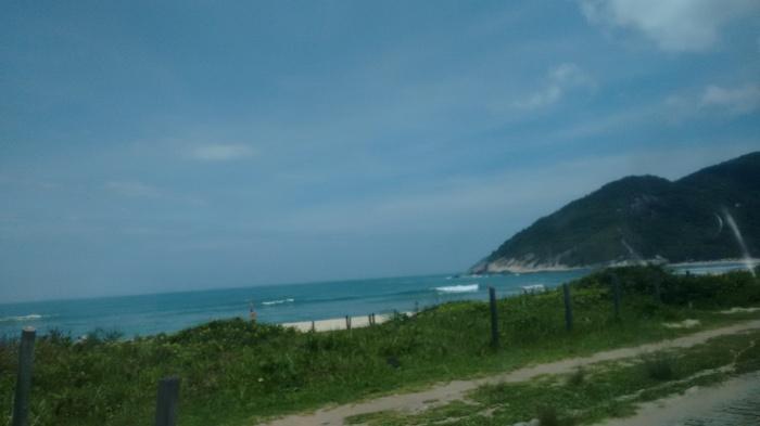 Praia brilhante